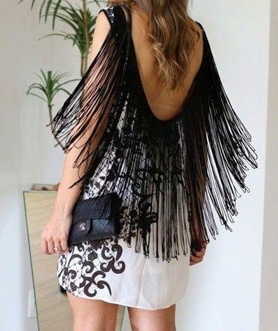 699fd53c5feb Vestido Blanco corto con flecos | fringes | Vestidos blancos cortos ...