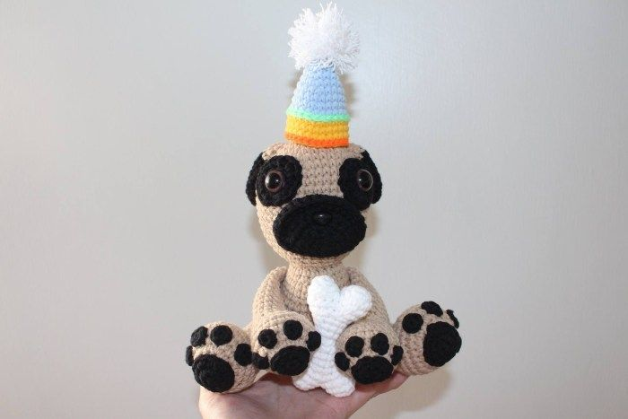 Crochet Pug Puppy #cutepugpuppies