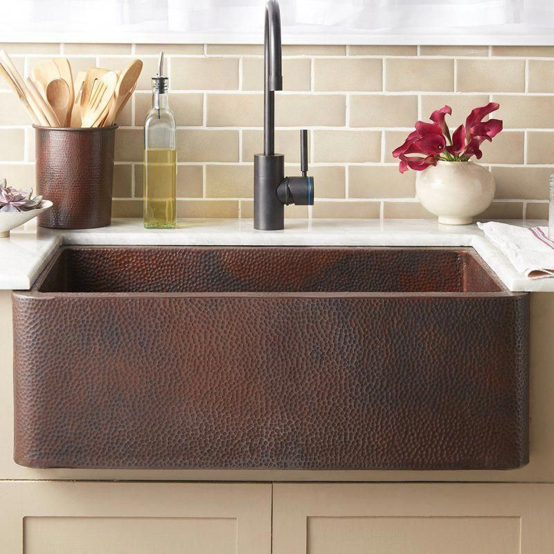 Waterstone Wheel Faucet in antique copper. Goes great with
