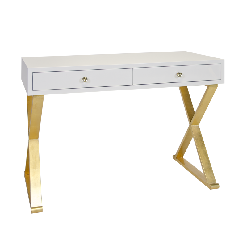 Functional Desks jared white with gold desk | gold desk, desks and gold