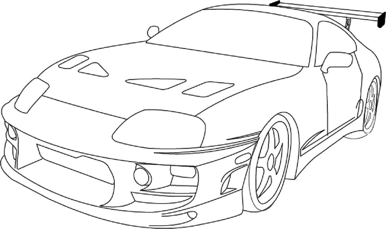 Fast And Furious Coloring Pages Toyota Supra