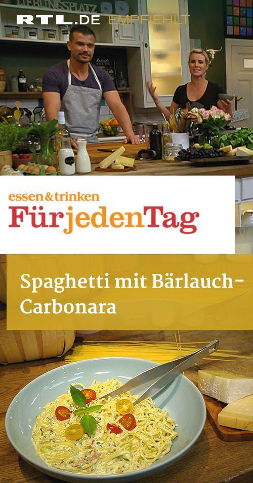Spaghetti mit Bärlauch-Carbonara