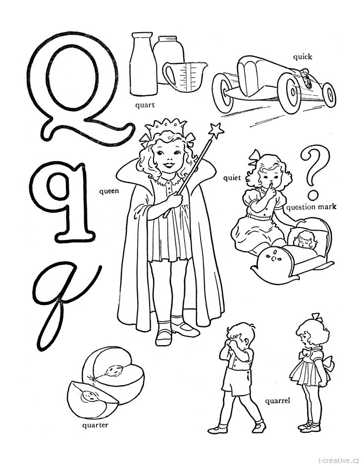 Explore Coloring Pages Alphabet And More Anglick Slovka Q