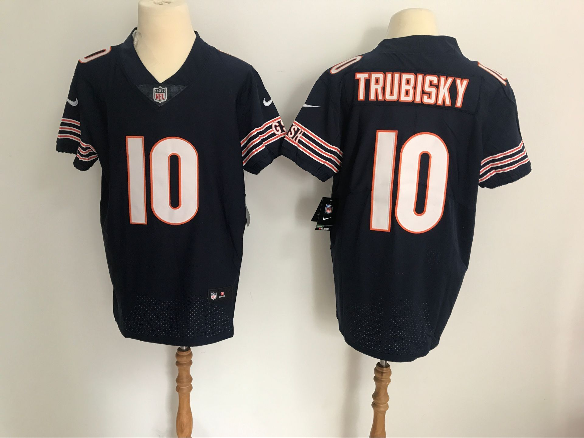 online store c7ad6 3c68f Men\'s Chicago Bears #10 Mitchell Trubisky Black Vapor ...