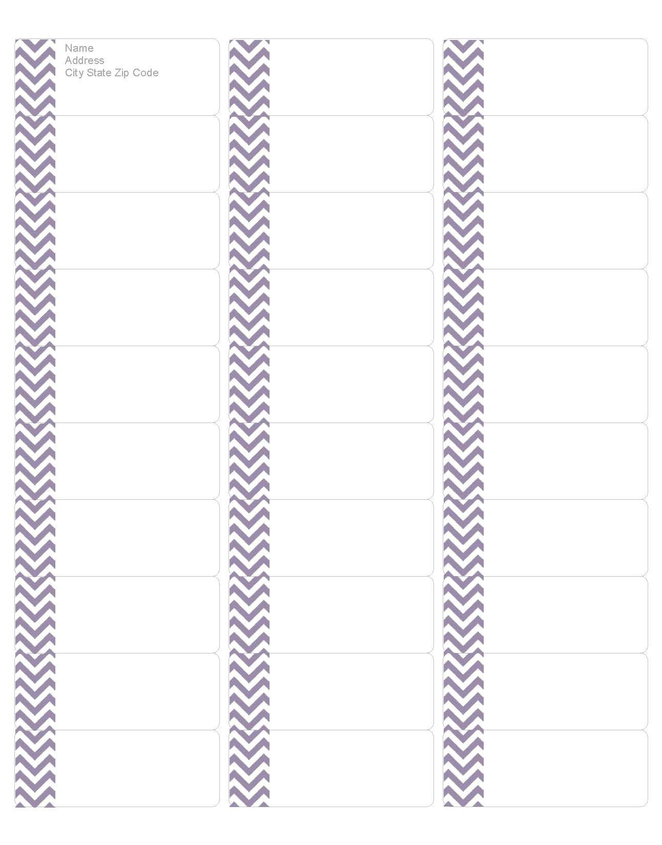 download your free purple chevron address labels  compatible with avery return address label