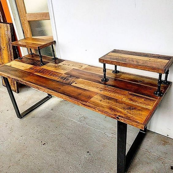 Some Cool Ideas With Old Wooden Shipping Pallets Pallet desk