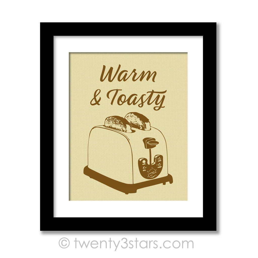 Toaster Kitchen Humor Wall Art - Choose Any Colors - twenty3stars ...
