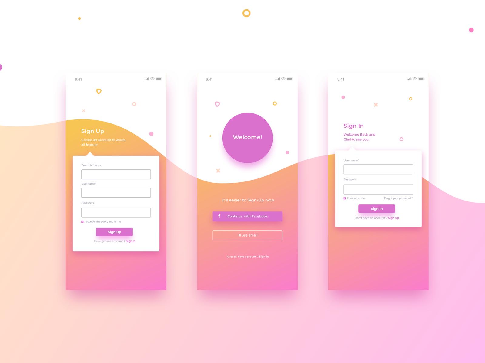 Login Screen App Design Mobile App Design App Design Layout