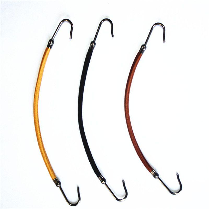 4 개/몫 탄성 헤어 밴드 껌 후크 포니 테일 홀더 번지 머리 두꺼운/곱슬/제어하기 헤어 스타일링 도구