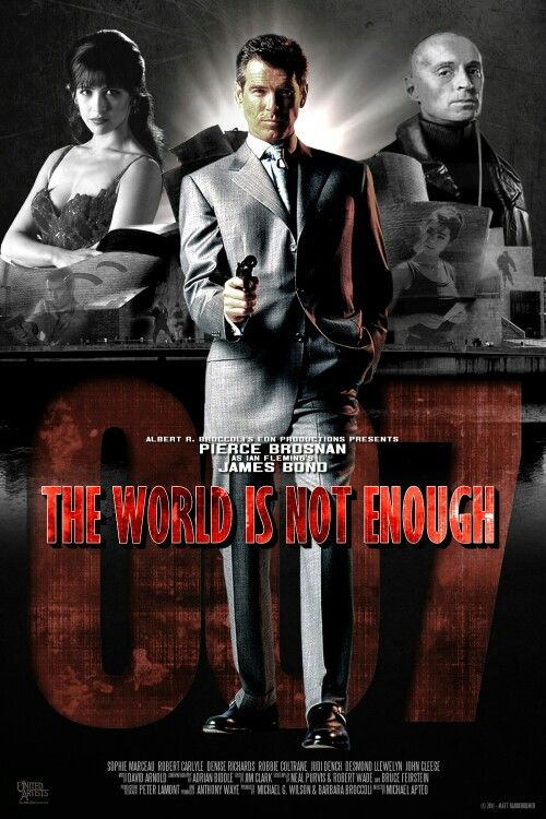 The World Is Not Enough 1999 James Bond Movie Posters James
