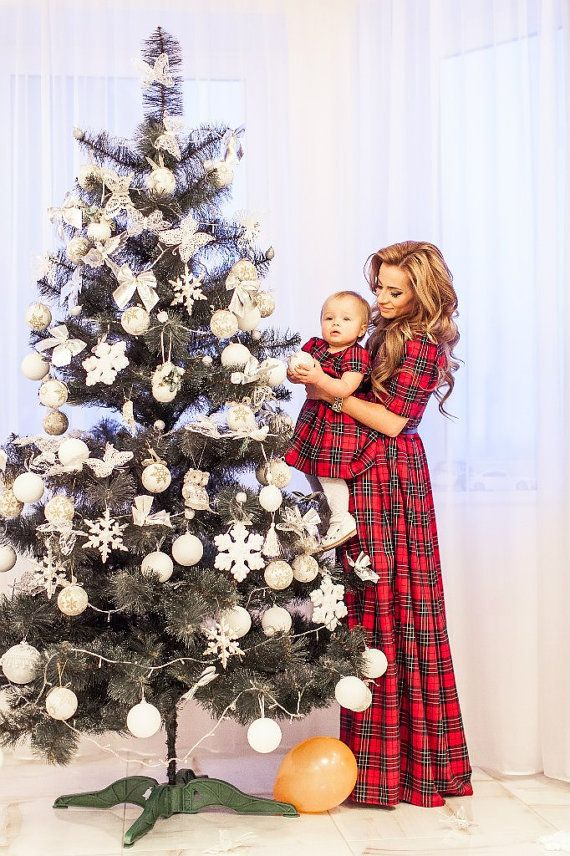 Plaid Mother Daughter Matching Dress Tartan Mom Daughter Etsy Mom And Daughter Matching Christmas Dress Mommy Daughter Outfits
