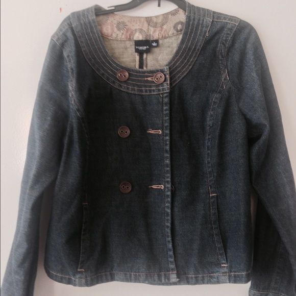 Sonoma flowy jean jacket size L Cute!  In used but good condition.  Size L Sonoma Jackets & Coats Jean Jackets