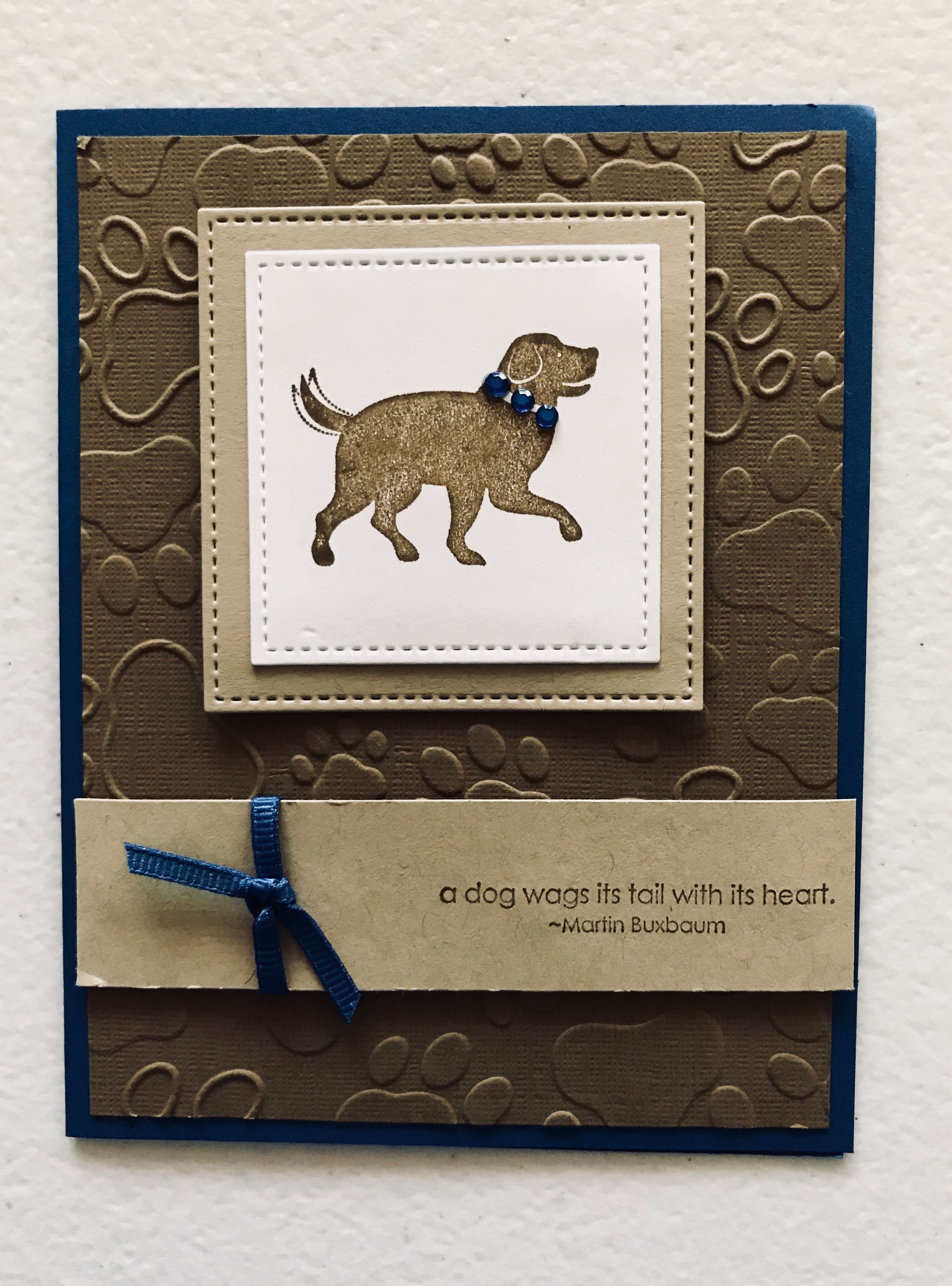 Dog sympathy card inside says sorry for the loss of your