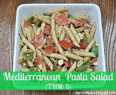 Darcie's Dishes: Mediterranean Pasta Salad ~ Enjoy this low-carb pasta salad on the side of grilled chicken or steak!