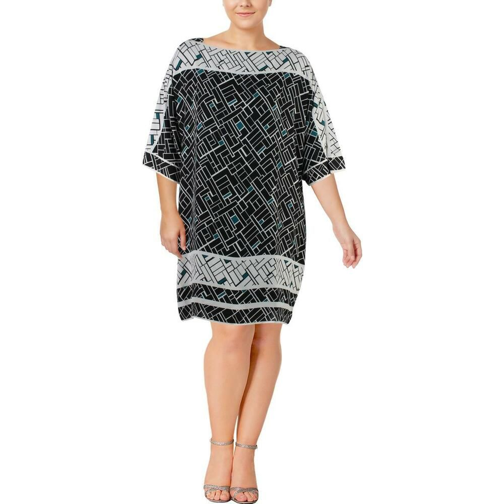 2c3c4756c6a2 Lauren Ralph Lauren Womens Black Geo-Print Wear to Work Dress Plus 18W BHFO  5556 #fashion #clothing #shoes #accessories #womensclothing #dresses (ebay  link)