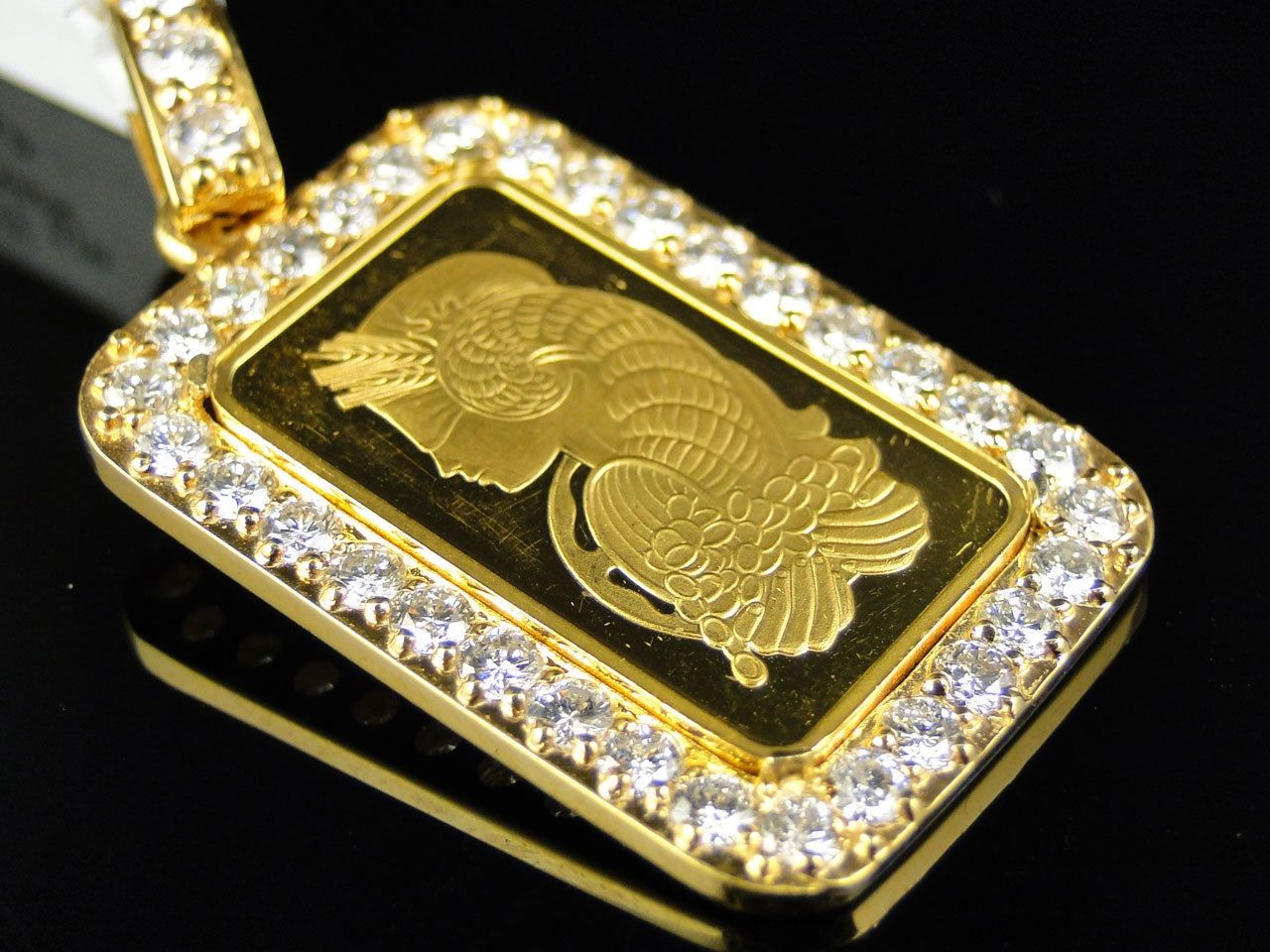 24 k solid yellow gold coin bar 5g pamp suisse swiss custom 24 k solid yellow gold coin bar 5g pamp suisse swiss custom pendant charm 15 ct mozeypictures Image collections