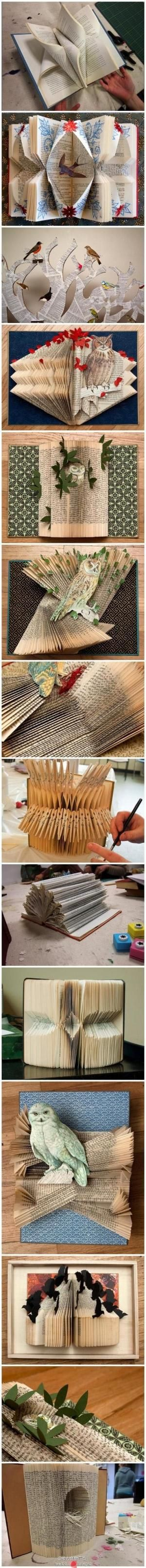 The art of paper folding - From the Chinese site, pengfu.com - can't find a creator to give credit to, but I love the work. by pilar laguna