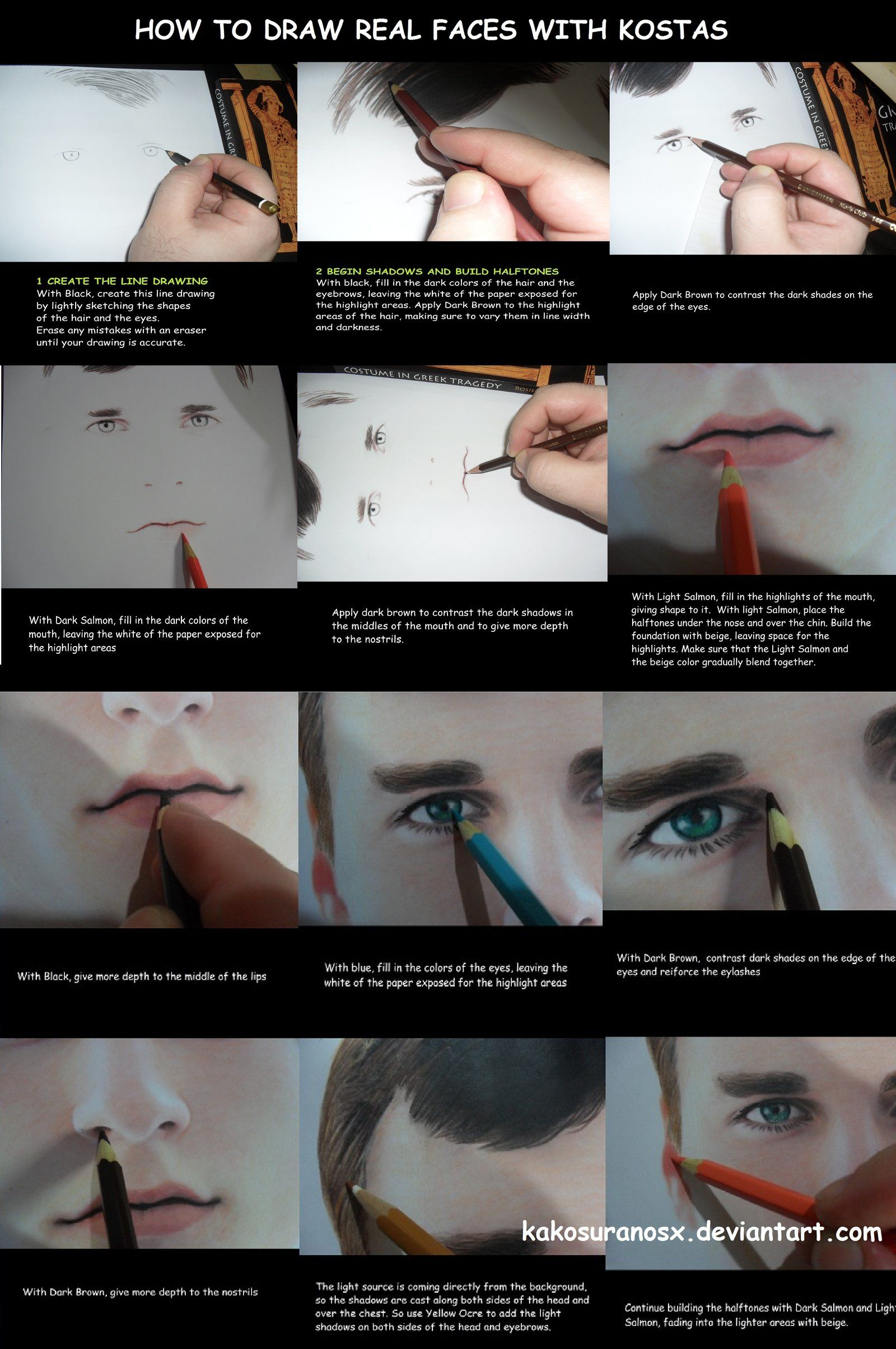 Colored Pencil Drawing Tutorial How To Draw A Boy By Kakosuranosx