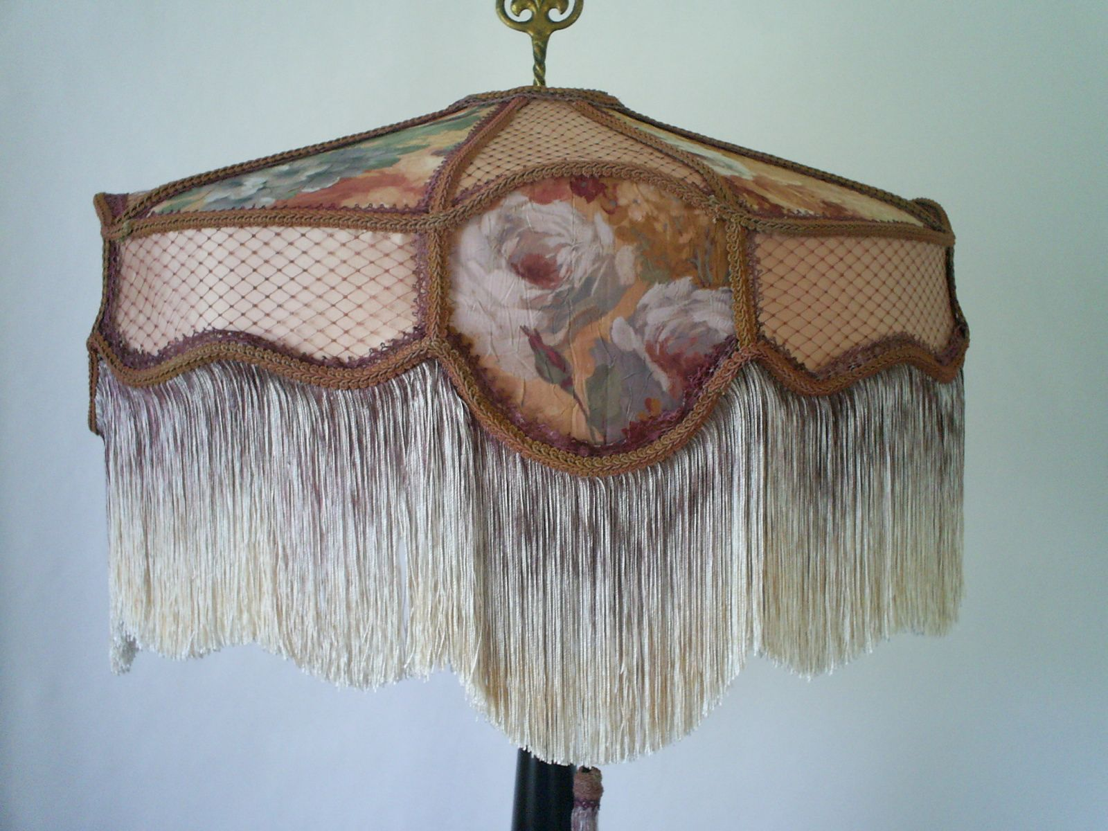 Hand Made Fabric Lamp Shades Victorian Style Fringe