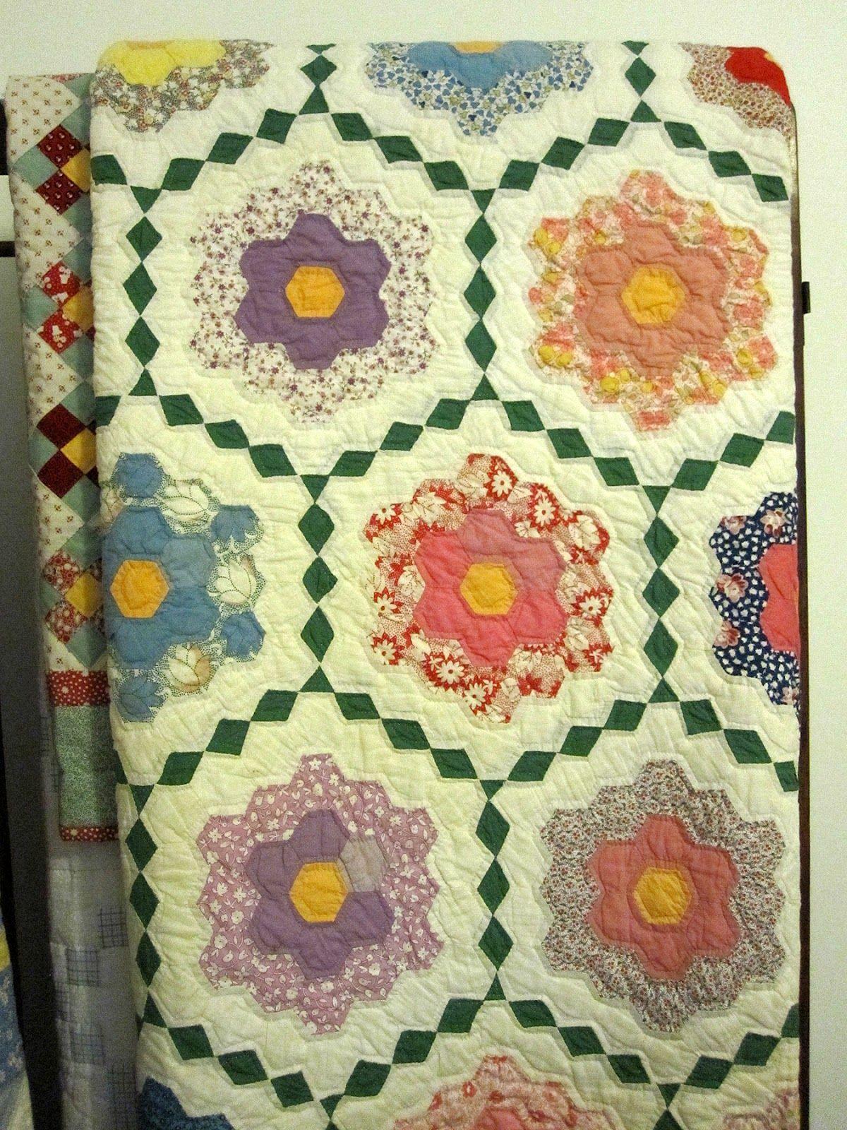 Molde gratis del quilt Grandmothers Flower Garden para