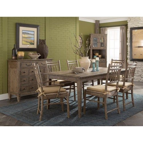 "Riverbank 'willow Bank' Dining Room Table With 1 18"" Leaf Amazing Klaussner Dining Room Furniture Design Ideas"