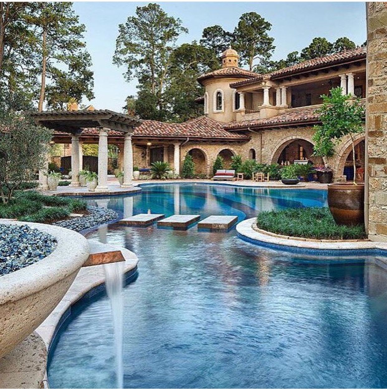 Mediterranean Tuscan Style Home House: Pin By Doris Diaz On Luxurious Outdoor Living
