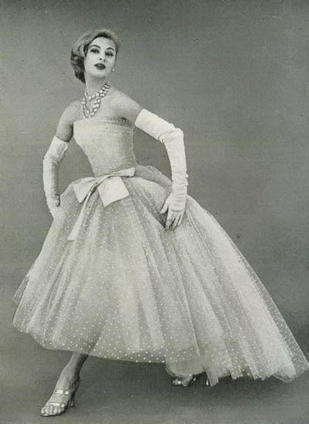 f426626a1e Christian Dior, April 1956. | Mid Century Fashion in 2019 | Fashion ...