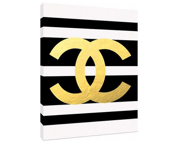 Gold Chanel Logo - Custom Fashion Art Priont - Customizeable Chanel ...