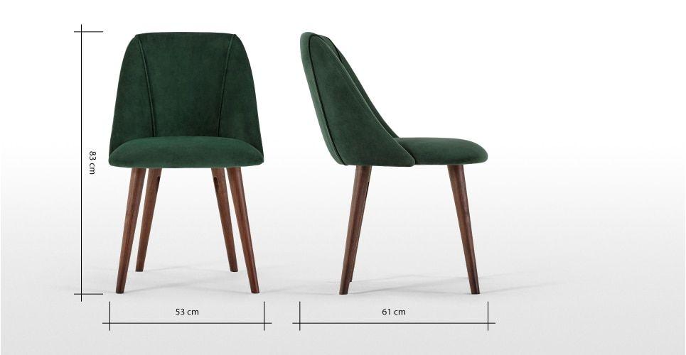 Epingle Par Corinne Aubert Sur Design Furniture Chaise De Salle A Manger Velours Bleu Chaise Verte