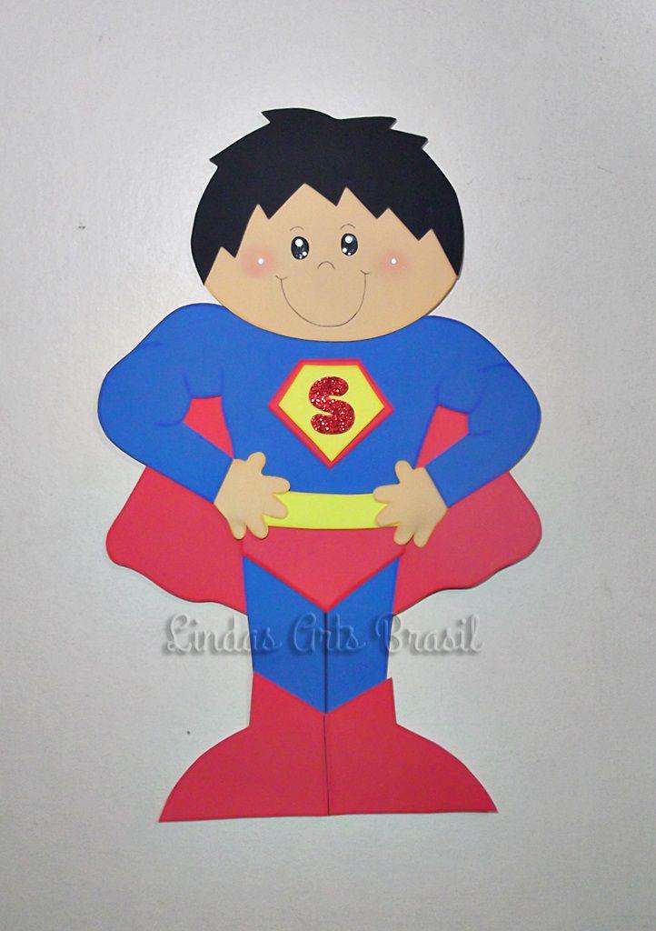 Painel Super Homem em EVA. 50 cm