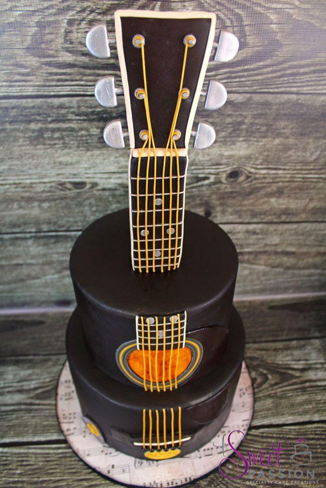 GuitarCake3 | Guitar cake, Cake, Guitar