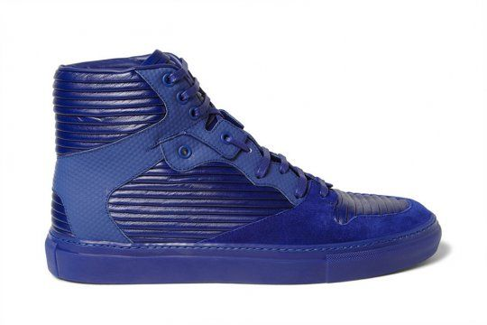 Balenciaga 2013 Panelled Leather and Suede High Top Sneakers