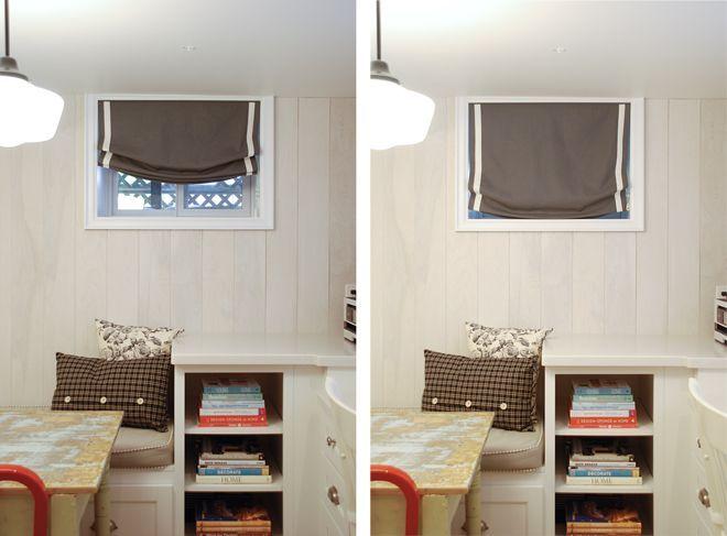 Small Basement Window Curtains 2 Badezimmer im keller