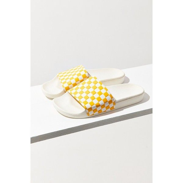 269b7595201 Vans Checkerboard Pool Slide ( 30) ❤ liked on Polyvore featuring shoes