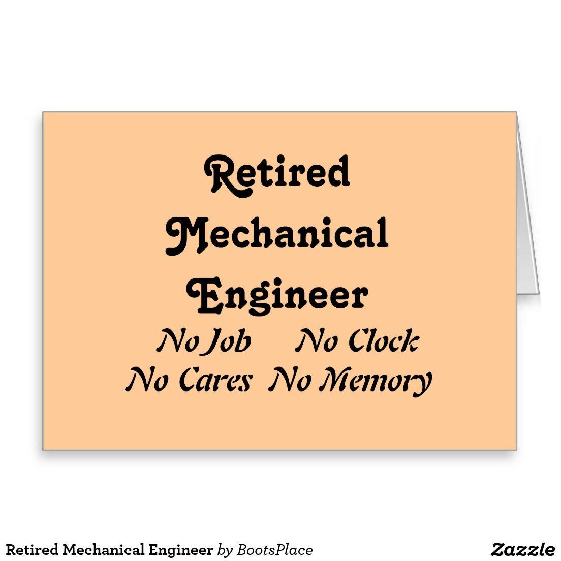 Retired Mechanical Engineer Card