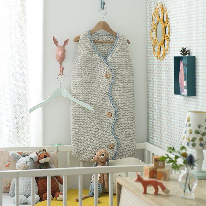 patron pour tricoter une gigoteuse tricot bb tricot. Black Bedroom Furniture Sets. Home Design Ideas