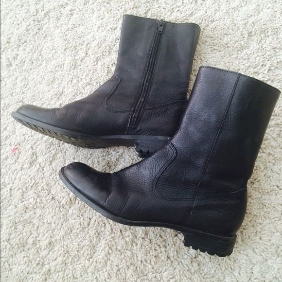 Leather CALVIN KLEIN boots Good condition Calvin Klein Shoes