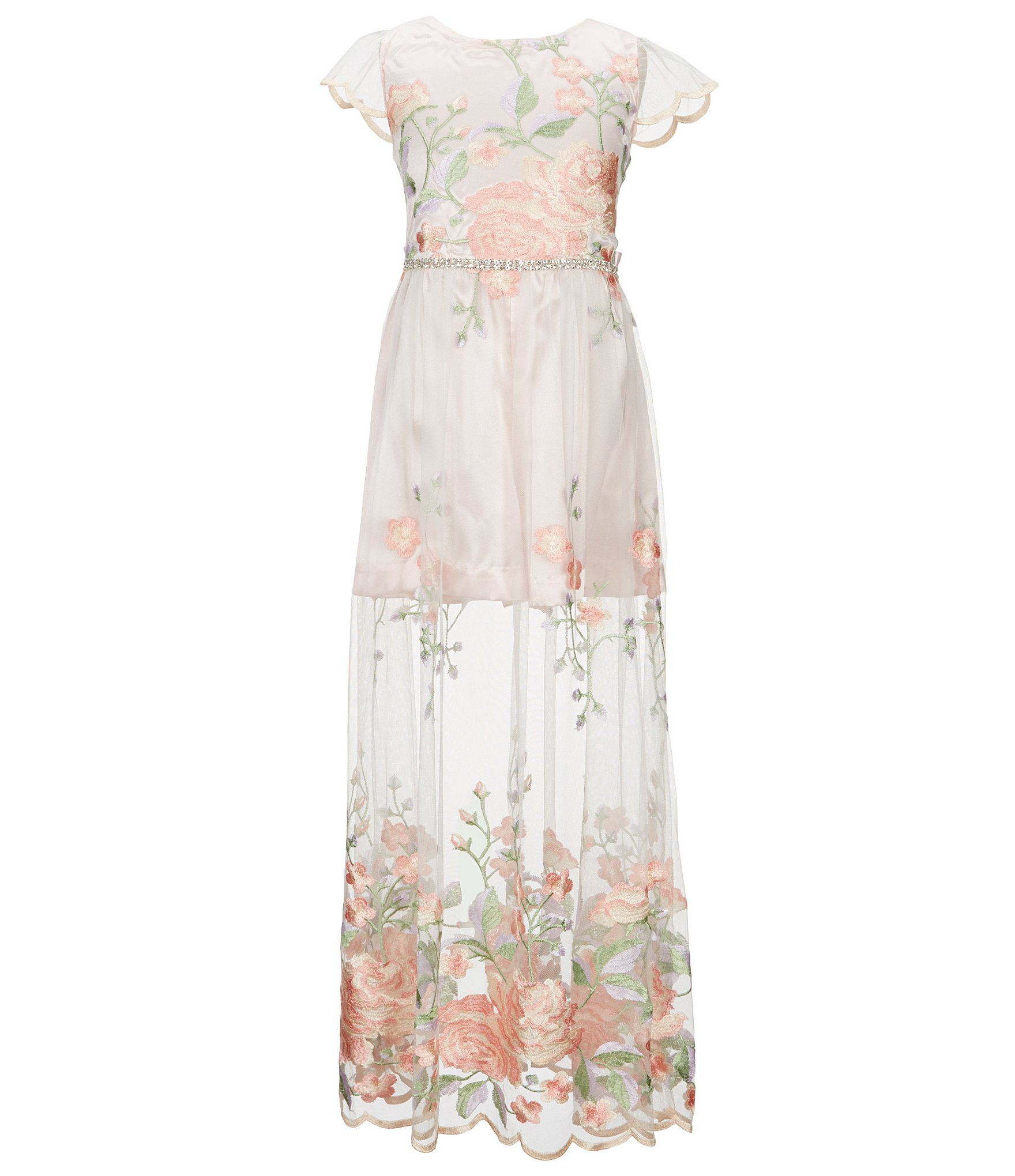 e5e84cd8b7c4 Shop for Rare Editions Little Girls 4-6X Floral-Embroidered Maxi Romper at  Dillards.com. Visit Dillards.com to find clothing