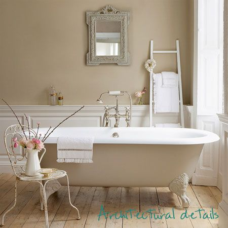 Superbe Cottage Style Bathroom...this Is Similar To Our Wall Color. Love The