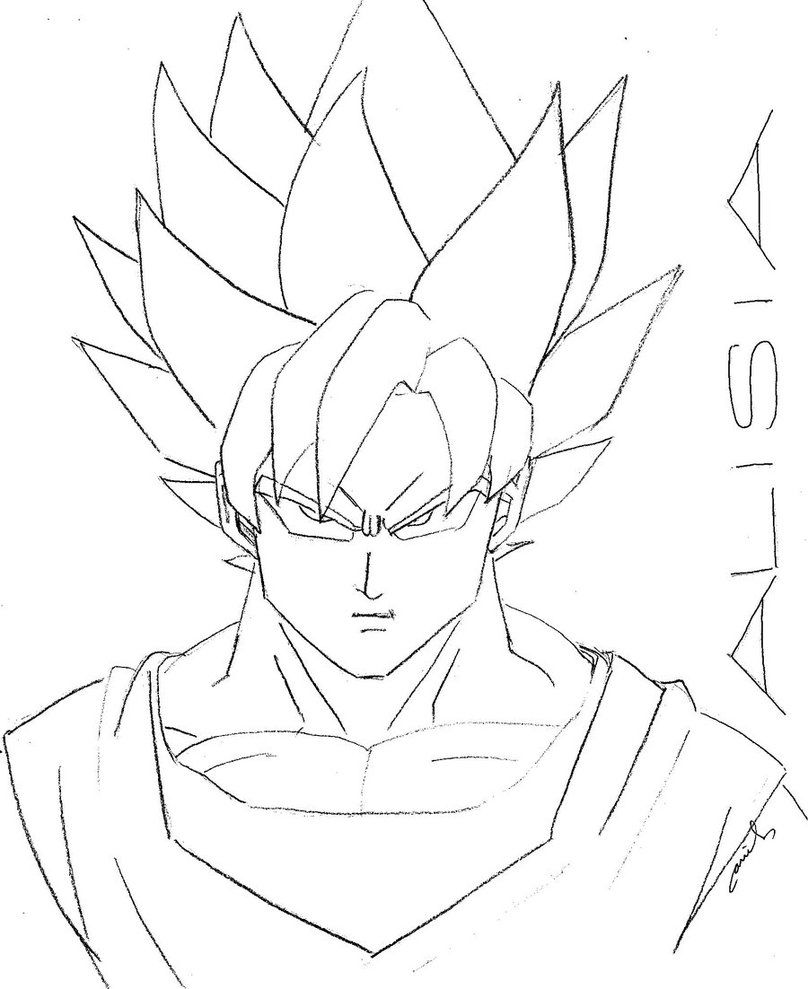 Goku Super Saiyan 4 Coloring Pages Goku Super Saiyan Coloring ...