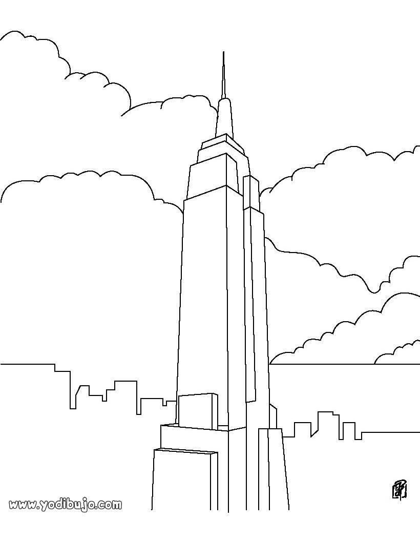 Dibujo Colorear Nueva York Empire State Building Source J26 Edificio Empire State Empire State Building Puente De Brooklyn