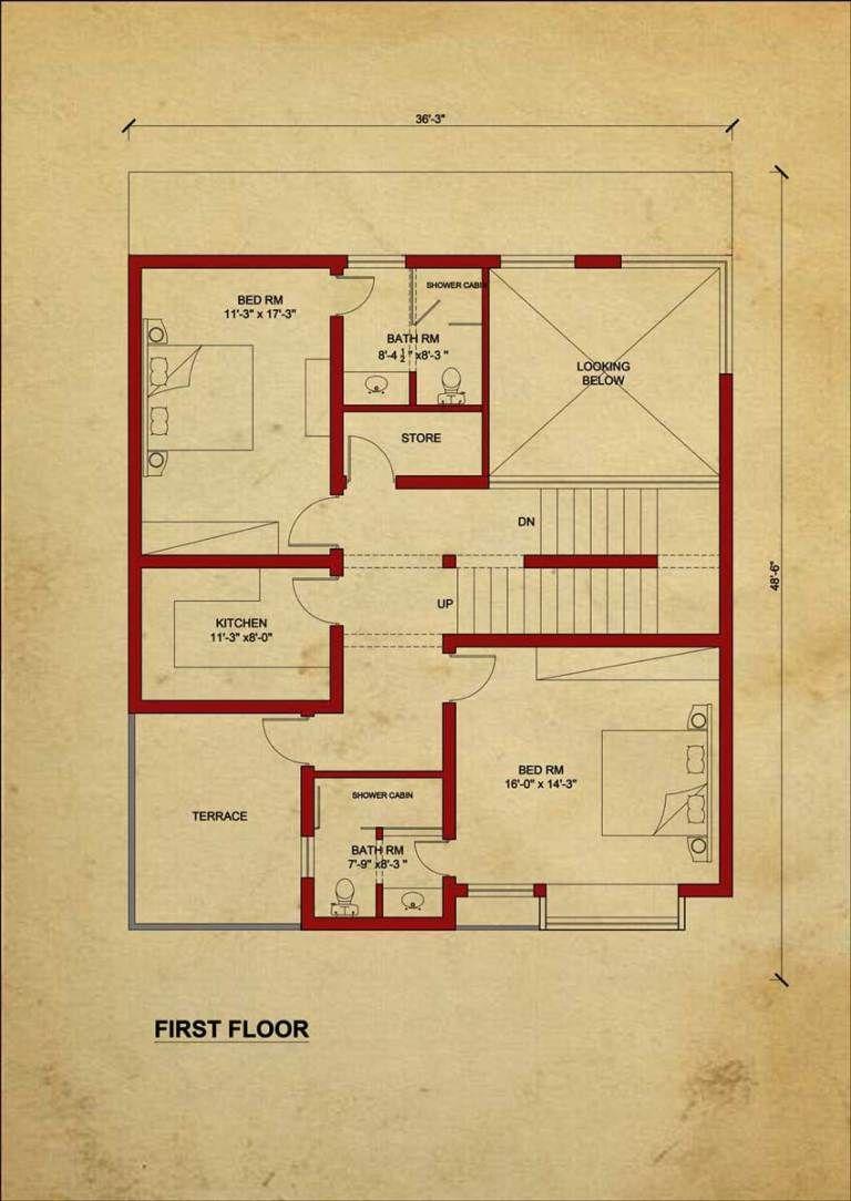 Floor Design: By 360 Design Estate – 7.5 Marla House