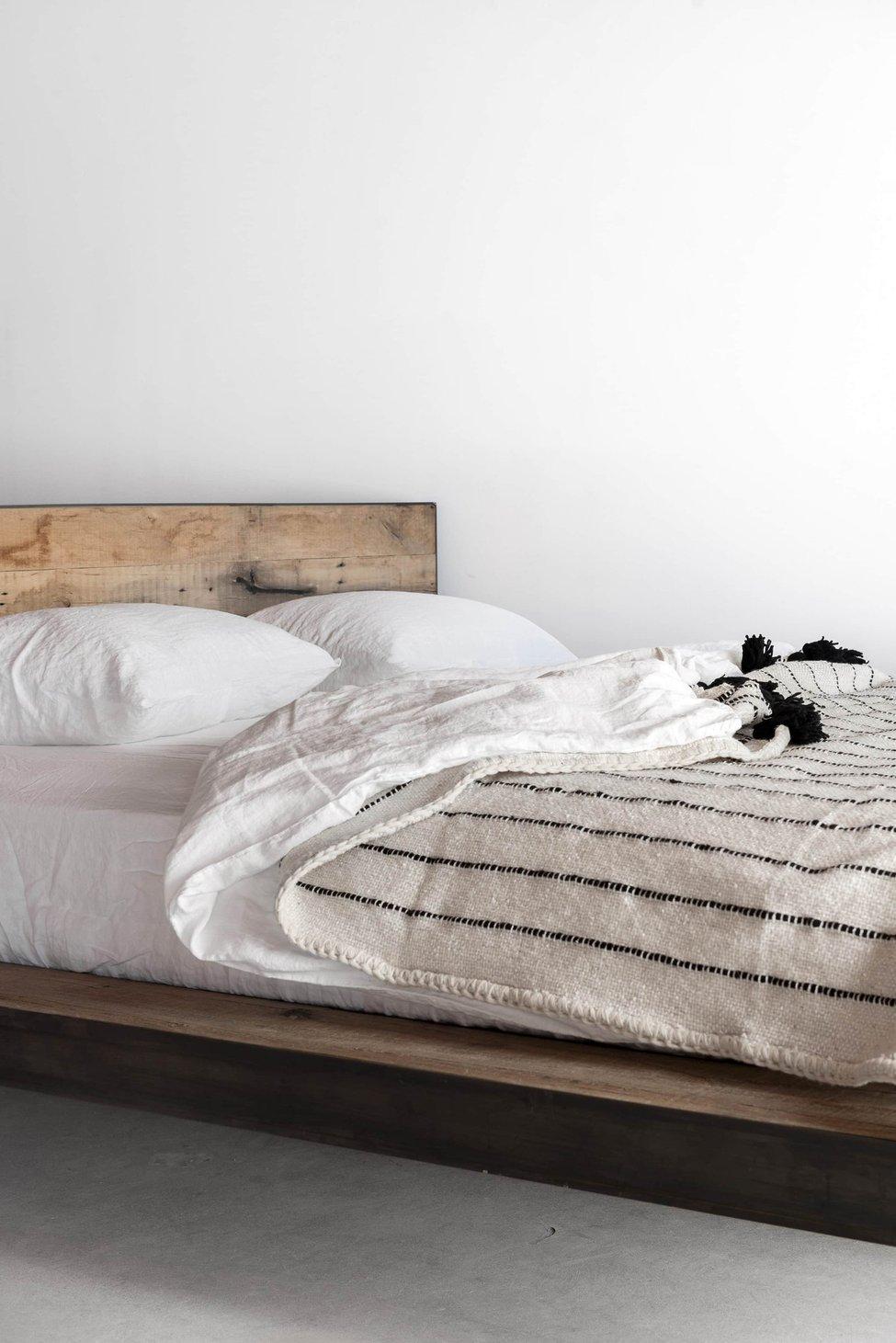 Mossam Platform Bed Wood platform bed, Bed, Platform bed