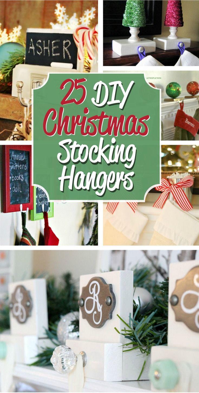 Diy Christmas Stocking Hangers Christmas Stocking Hangers Christmas Stocking Holders Stocking Hanger