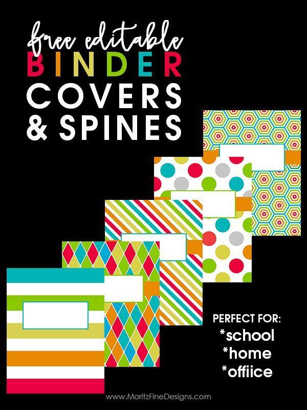 Back to School Binder Covers | Free Printables | Binder ...