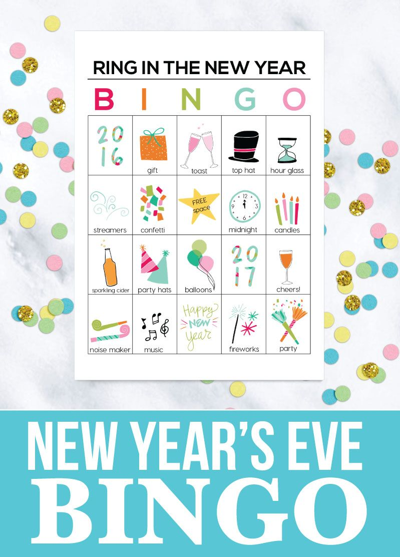 printable new years eve bingo sheets help ring in the new year with these fun printables thirtyhandmadedayscom