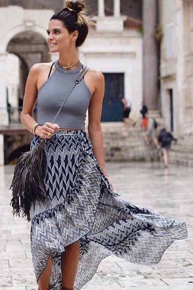 Well versed wrapped skirt