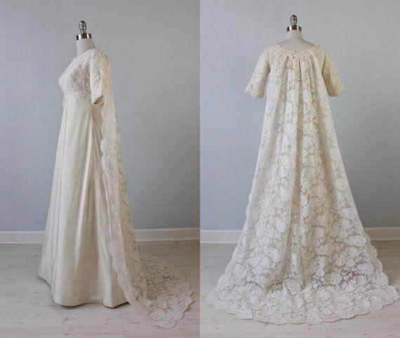 Vintage 1960s Wedding Dresses: Vintage 1960s Wedding Dress / 60s Bridal By