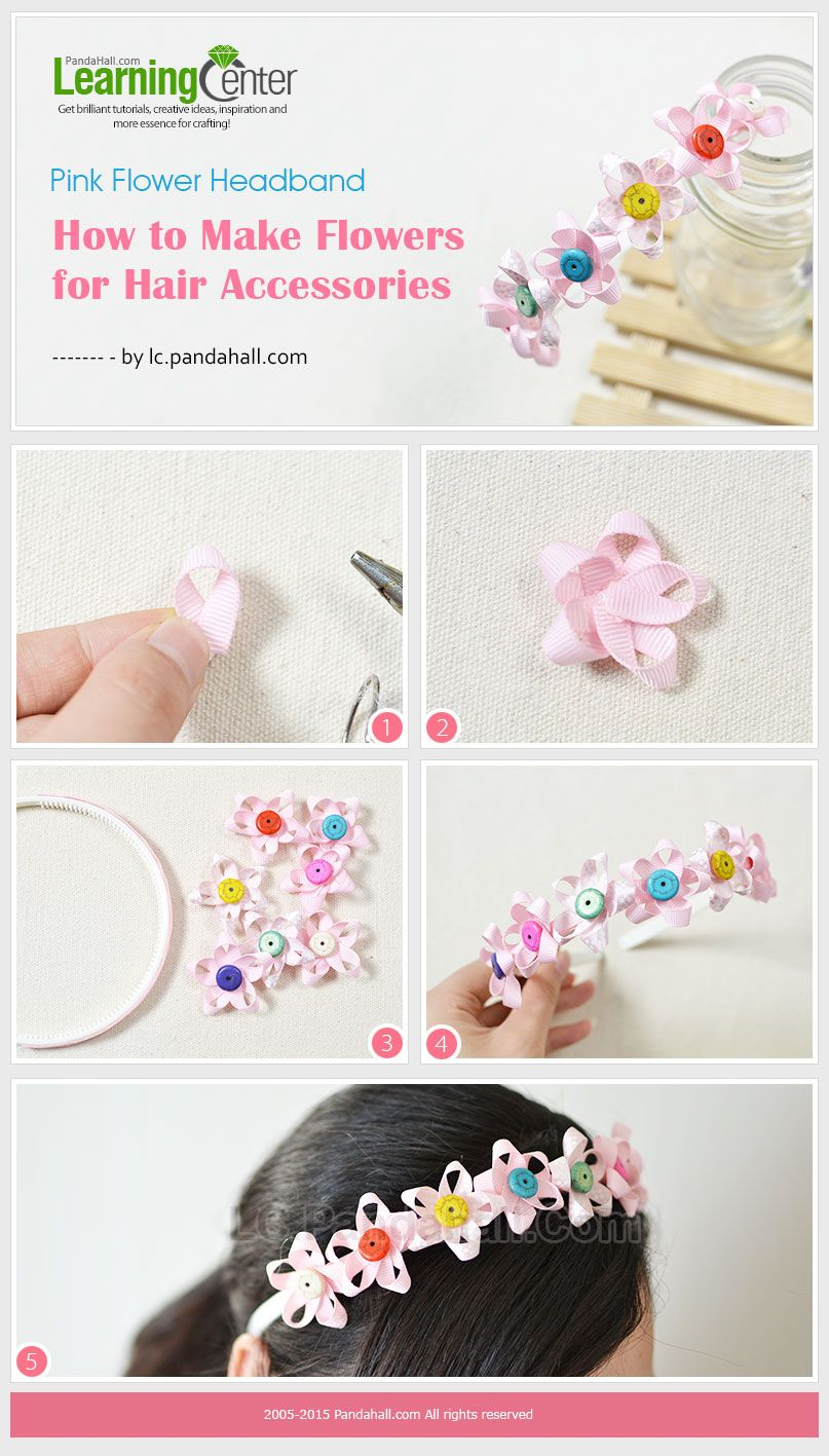 Pink Flower Headband How To Make Flowers For Hair Accessories