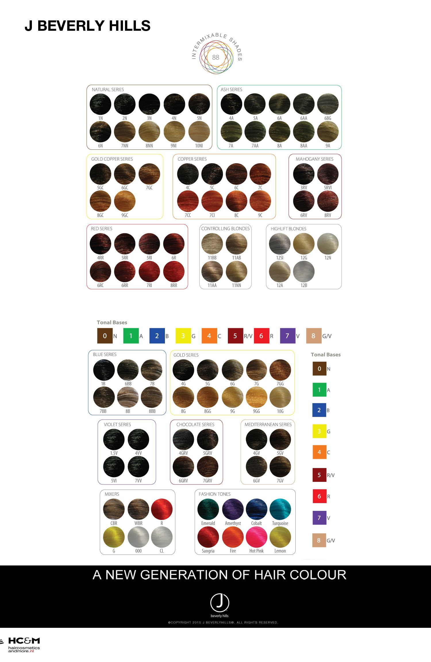 J Beverly Hills Hair Colour Chart All About The Salon Life In